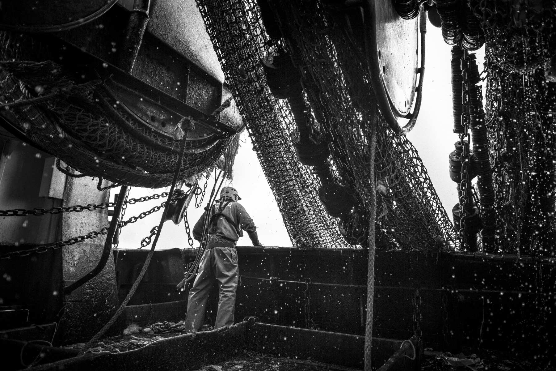 Marée à bord du chalutier Bara Zur